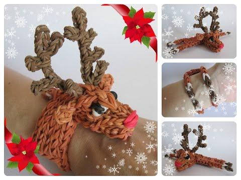 Loombicious 3D reindeer/Rudolph bracelet Rainbow Loom