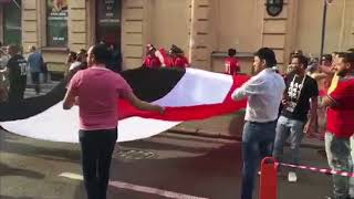 """""""شاهد جماهير كأس العالم تتغنى بأسم محمد صلاح""""يلا نشجع مصر"""