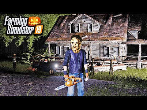 HAUNTED CAMPING TRIP WITH CHAINSAW MASSACRE! (ROLEPLAY) | FARMING SIMULATOR 2019