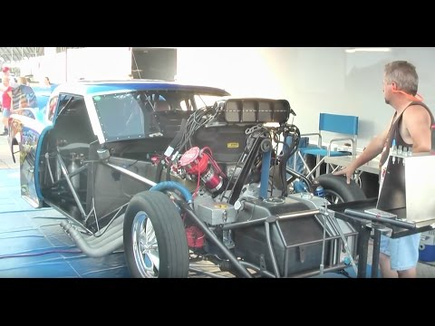 3000 HP Revving Drag Racing Car