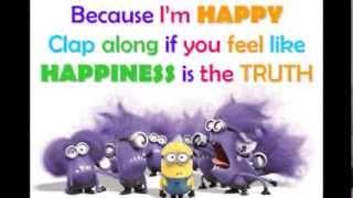 Pharrell Williams - Happy (Lyrics)