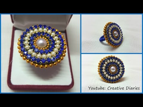 Video DIY Paper Ring: How to make designer party wear ring with paper at home I Creative Diaries download in MP3, 3GP, MP4, WEBM, AVI, FLV January 2017