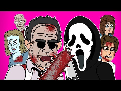 Ghostface Vs Leatherface The Musical - Animated Parody Song