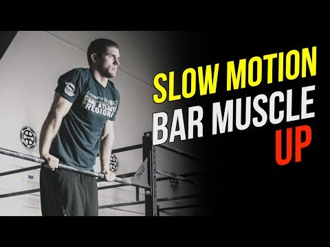 Bar Muscle Up SLOW MOTION (Simple Step by Step Technique Breakdown)