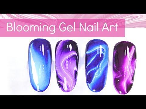 Gel nails - Easy Nail Art Designs with Blooming Gel