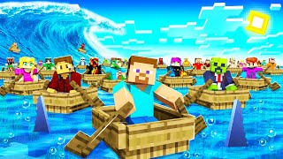So I Left 100 KIDS On a RAFT in MINECRAFT...