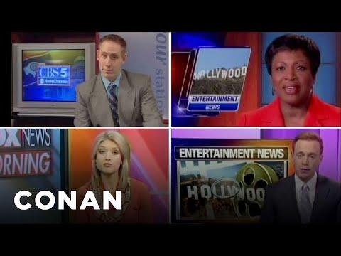 Conan O'Brien - Newscasters tease the same