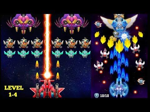 Strike Galaxy Attack: Alien Space Chicken Shooter Gameplay Level 1-4