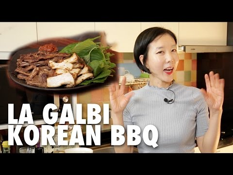 Korean Cooking with Jane | Korean BBQ LA GALBI LA갈비 Recipes :