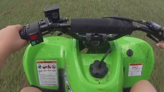 3. Kawasaki KFX 90 Ride Test