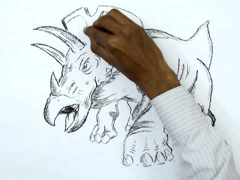 How to Draw a Triceratops Dinosaur