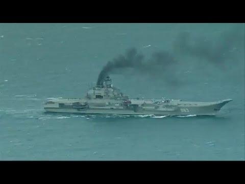 Корабельная авианосная группа ВМФ России проходит через Ла-Манш