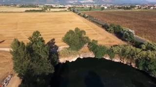 Guidonia Italy  city photo : Sinkhole Lake in Guidonia Rome Italy - View by Drone Video