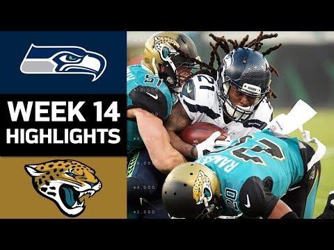 Seahawks vs. Jaguars | NFL Week 14 Game Highlights (видео)