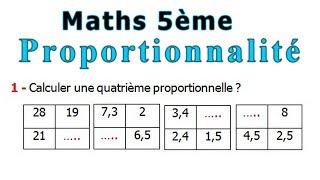 Maths 5ème - La proportionnalité Exercice 6