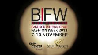 Siam Paragon Bangkok International Fashion Week 2013