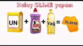 UN+SABUN+YAG=SLIME kolay slaym yapimi