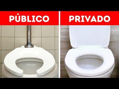 Vasos sanitários em banheiros públicos - onde está a tampa?
