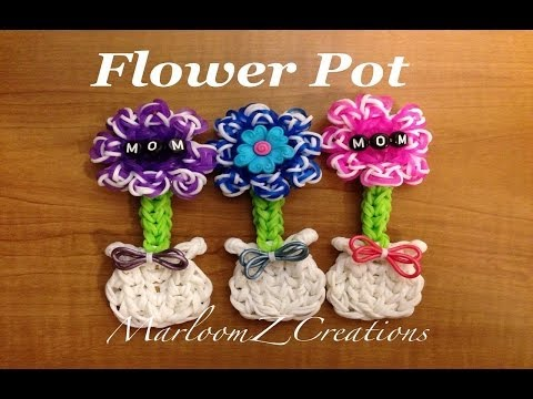 Rainbow Loom Mother's Day Flower Pot: How To – Charm Gomitas