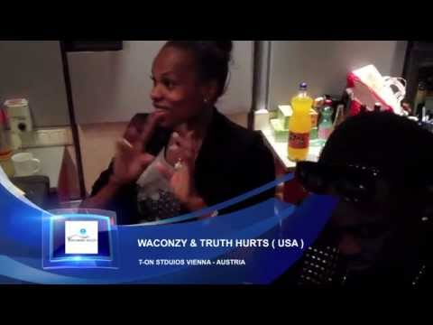 0 VIDEO: Waconzy in the Studio with Truth Hurts (American R&B star) Recording The Remix of Club on Fire Waconzy