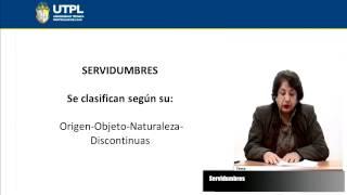 UTPL SERVIDUMBRES [(CIENCIAS JURÍDICAS)(DERECHO CIVIL II - BIENES)]
