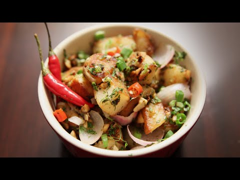 Tamarind Chilli Potatoes | Quick Easy To Make | Homemade Snack / Sabzi Recipe | Ruchi's Kitchen