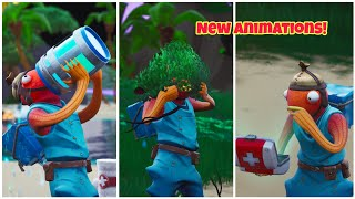 New Fortnite Animations Showcase In Slow Motion (New Healing Animations)