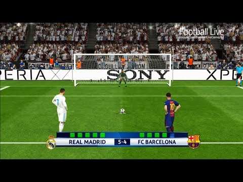 PES 2017 | Real Madrid vs FC Barcelona | Penalty Shootout | UEFA Champions League
