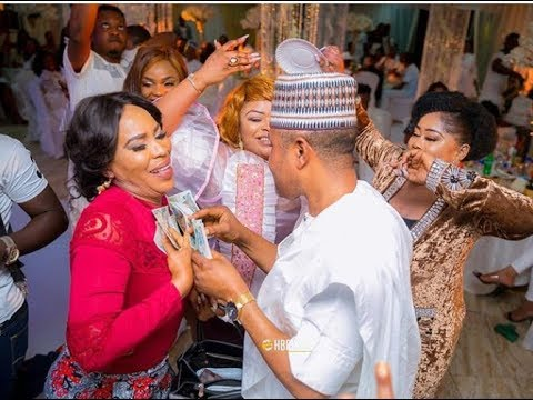 Faithia &Saidi Balogun Hold Hands,Talks,Smile &Dance Together At Mercy Aigbe 40th Birthday Party