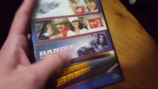 An unboxing of the Smoky and the Bandit 4-Movie Laugh Pack. It comes with the original movie, II, Bandit Goes Country, and Bandit Bandit.