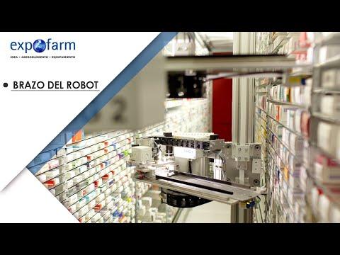 ¿Cómo funciona el brazo del robot de farmacia Apostore 1000?