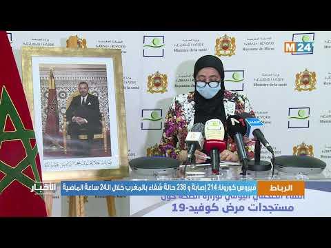 فيروس كورونا: 214 إصابة و 238 حالة شفاء بالمغرب خلال الـ24 ساعة الماضية