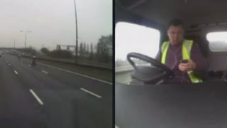 سائق حافلة يتعرض لحادث أثناء انشغاله بالجوال
