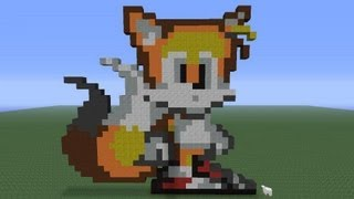 Minecraft Pixel Art: Tails Tutorial