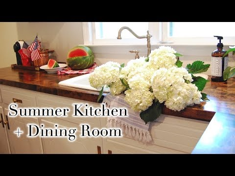 SUMMER KITCHEN + DINING ROOM TOUR