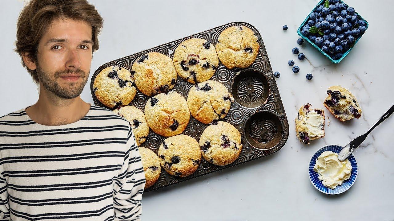Gesunde Bananen-Blaubeer Muffins | Michael Buchinger