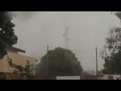 Tempestade com granizo e vento de 98 km/h em Echaporã, SP (19/10/2014)