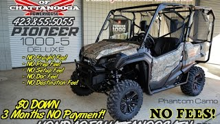 10. 2016 Honda Pioneer 1000-5 Camo Deluxe Review of Specs & Features - Side by Side ATV / UTV / SxS