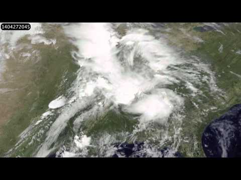 What the US tornado outbreak looks like from space