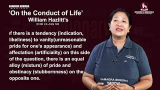 Unit 1 (i): On the conduct of life (Part 4 of 4)
