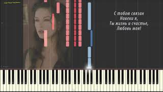 Королева красоты (Ноты и Видеоурок для фортепиано) (piano cover)