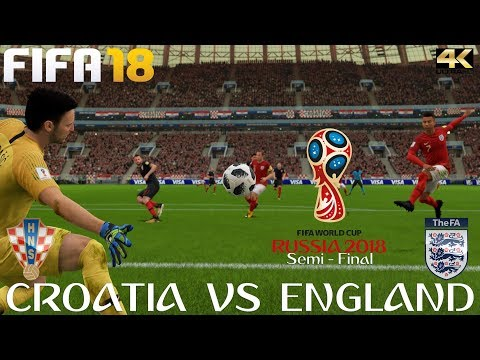 FIFA 18 (PC) (PC) Croatia V England | 2018 FIFA WORLD CUP RUSSIA | SEMI FINAL | 11/7/2018 | 4K