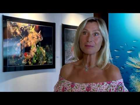 Exhibition of underwater photographs at Hotel Meridien