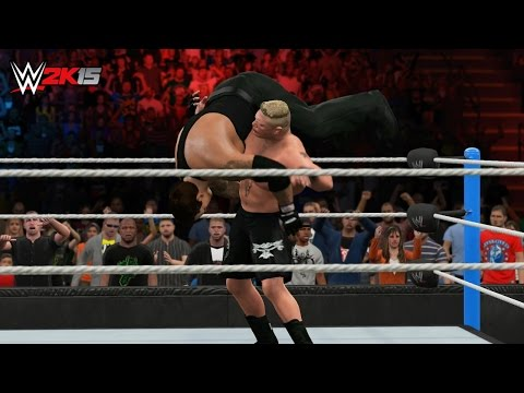 WWE 2K15 Summerslam 2015 - The Undertaker Vs Brock Lesnar - The Phenom Vs The Beast! (WWE 2K15)