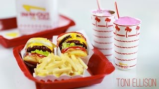 In-N-Out Burger : How To Make Miniature Fast Food : Double Double, Cheeseburger, Fries, Milkshake - YouTube