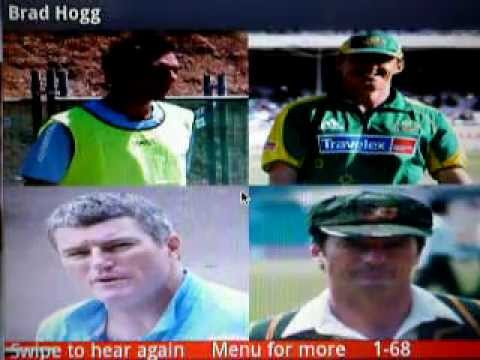 Video of Test Cricketers of Australia