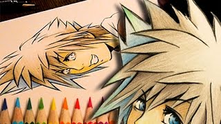 Patreon: https://www.patreon.com/myawhoI used graphite and colored pencils for this.  Yet another Sora drawing.  I used a quick sketch of Sora by Tetsuya Nomura as reference.