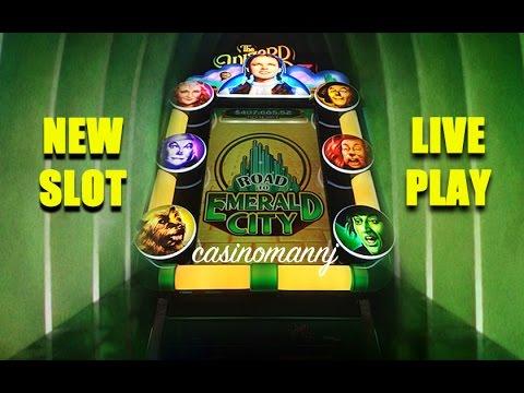 NEW SLOT! - Wizard of Oz - ROAD TO EMERALD CITY -  *LIVE PLAY* - NICE WIN! -Slot Machine Bonus