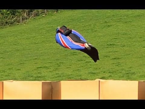 jumps - Gary Connery, a 42-year-old daredevil, plunged from a helicopter in a death-defying jump before landing in an area containing 18600 cardboard boxes. Get the...