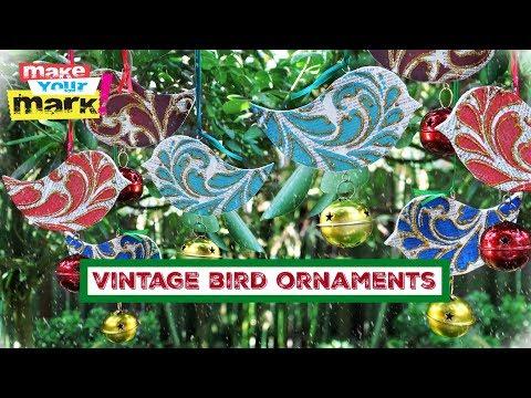 Vintage Bird Ornaments